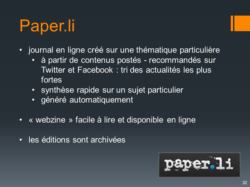 Paper.li journal en ligne créé sur une thématique particulière