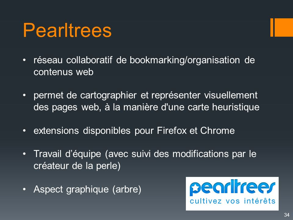 Pearltrees réseau collaboratif de bookmarking/organisation de contenus web.