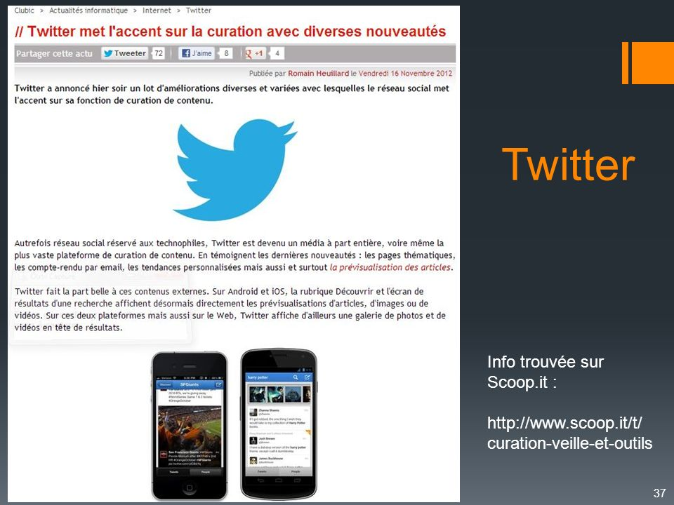 Twitter Info trouvée sur Scoop.it :