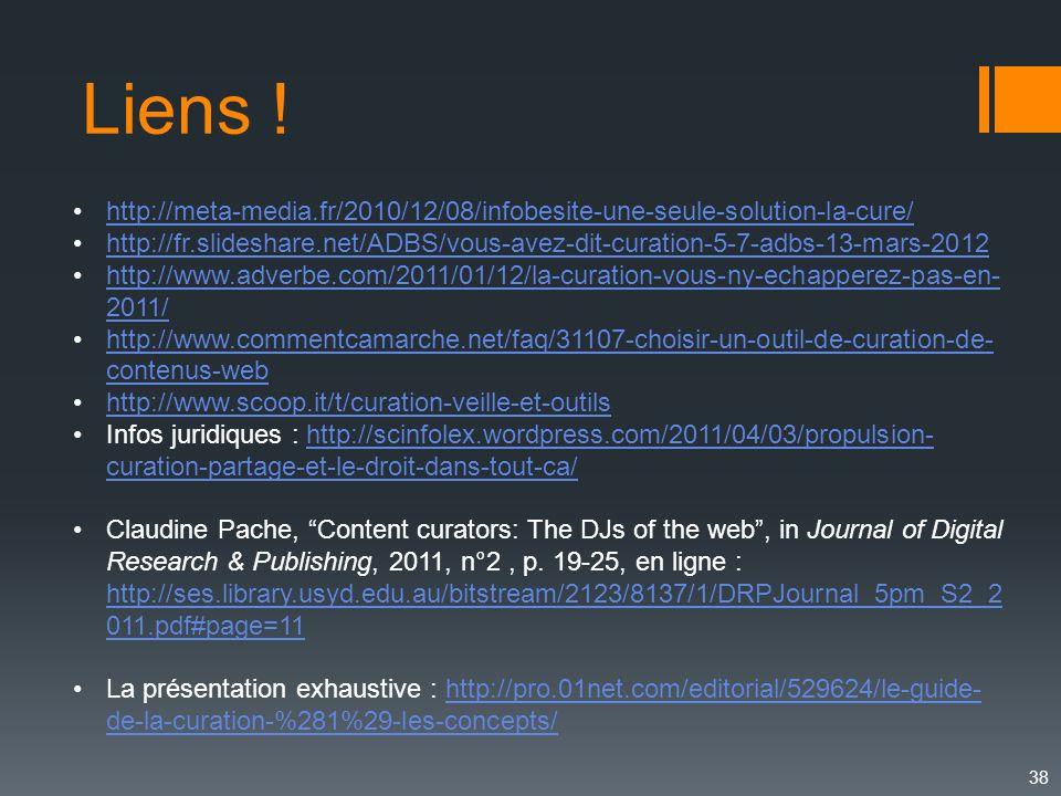 Liens ! http://meta-media.fr/2010/12/08/infobesite-une-seule-solution-la-cure/