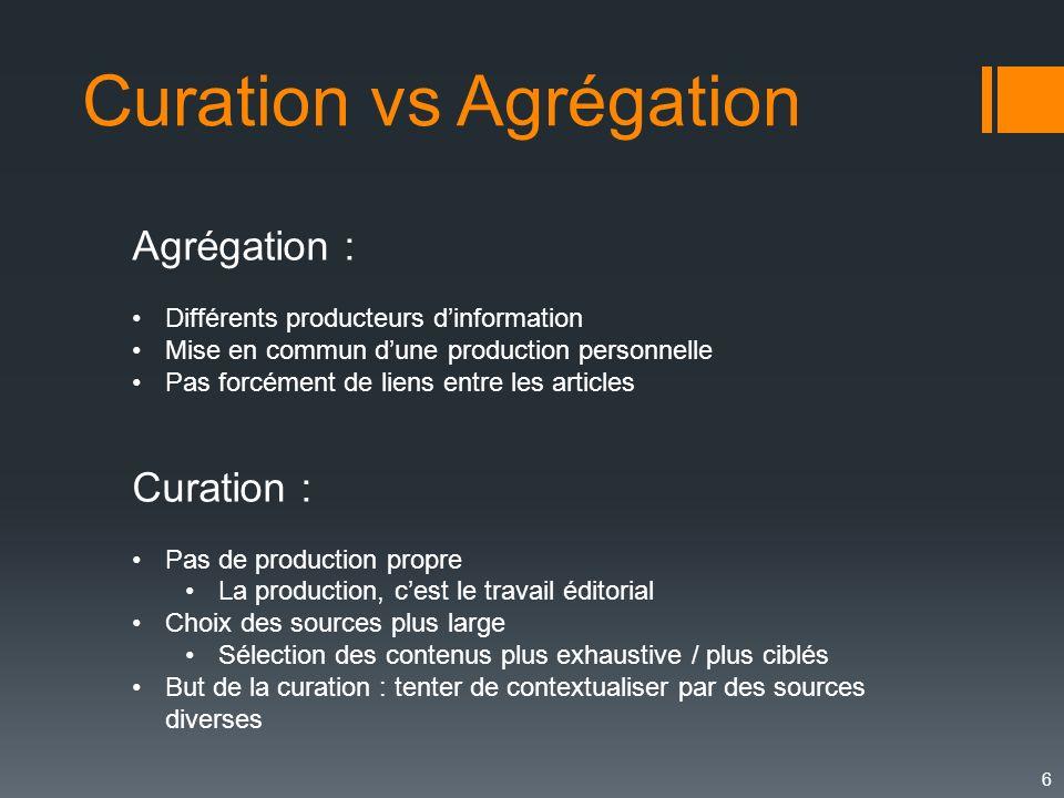 Curation vs Agrégation