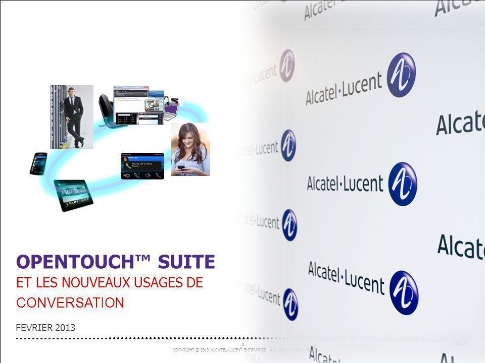 OpenTouch™ SUITE Et les nouveaux usages de