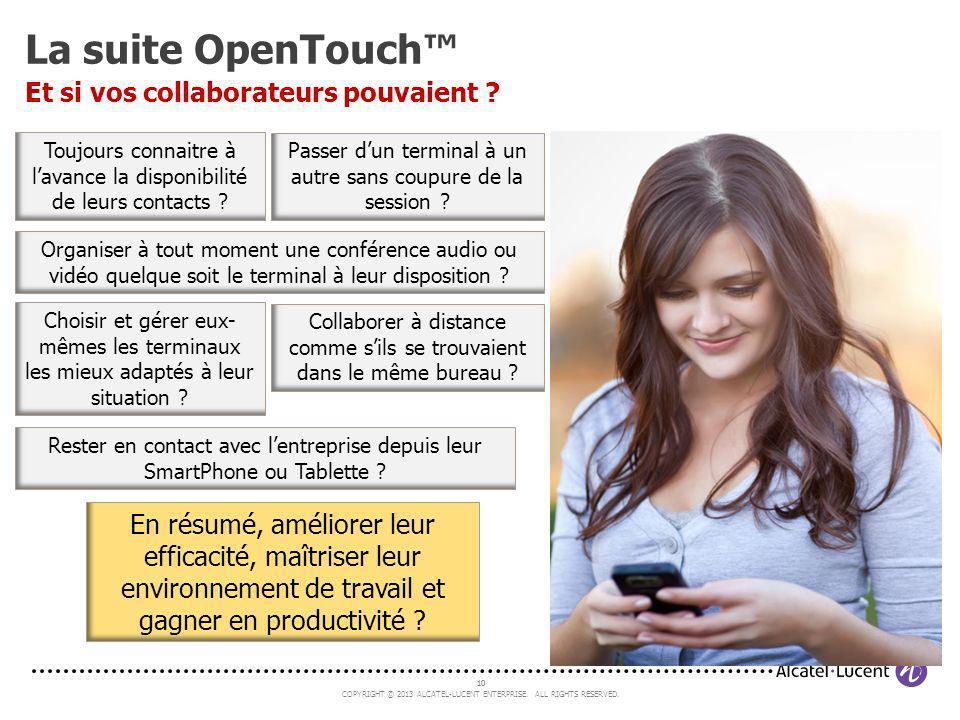 La suite OpenTouch™ Et si vos collaborateurs pouvaient