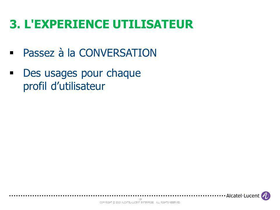 3. L EXPERIENCE UTILISATEUR