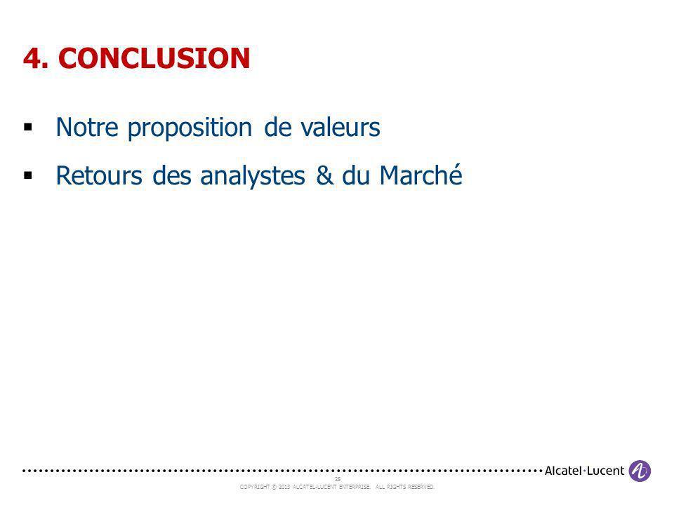 4. CONCLUSION Notre proposition de valeurs