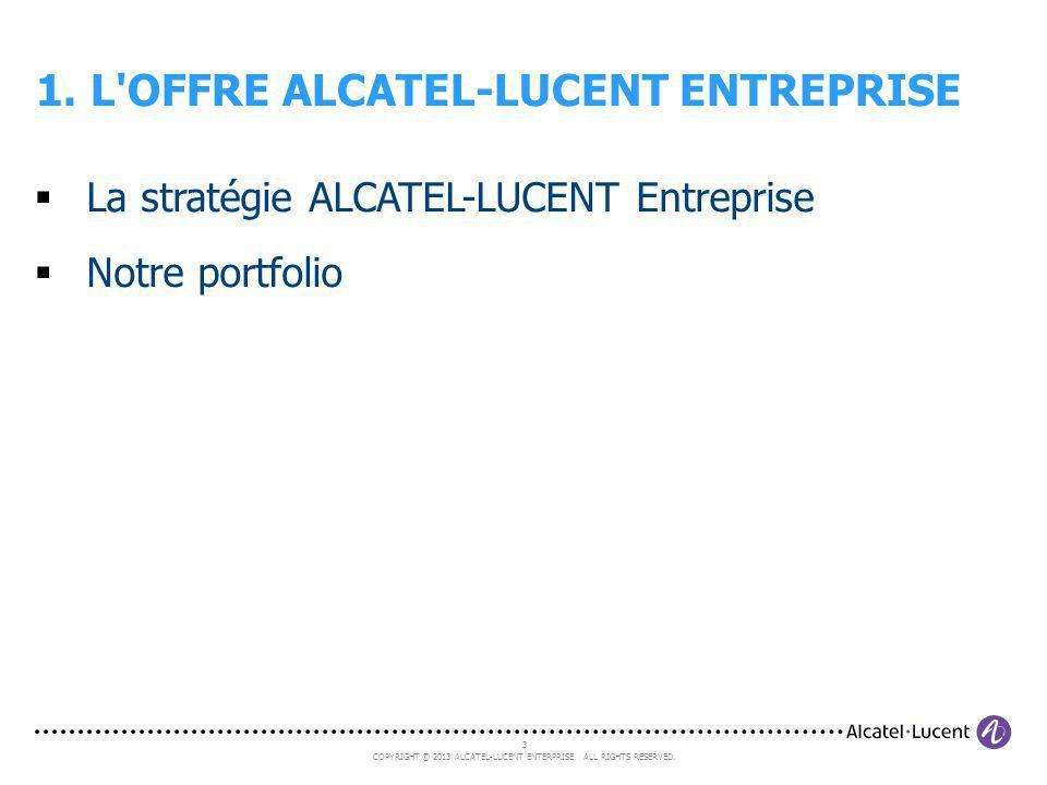 1. L OFFRE ALCATEL-LUCENT ENTREPRISE