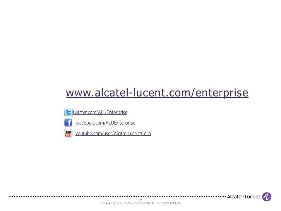 www.alcatel-lucent.com/enterprise twitter.com/ALUEnterprise