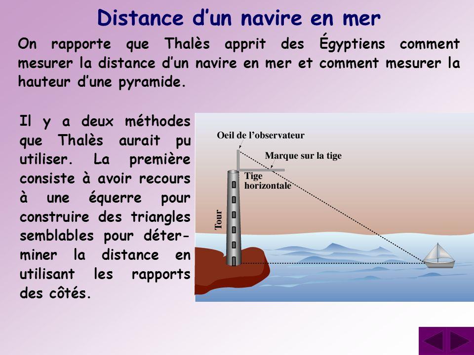 Distance d'un navire en mer