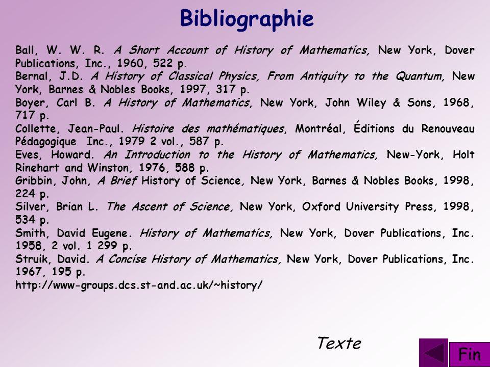 Bibliographie Texte Fin