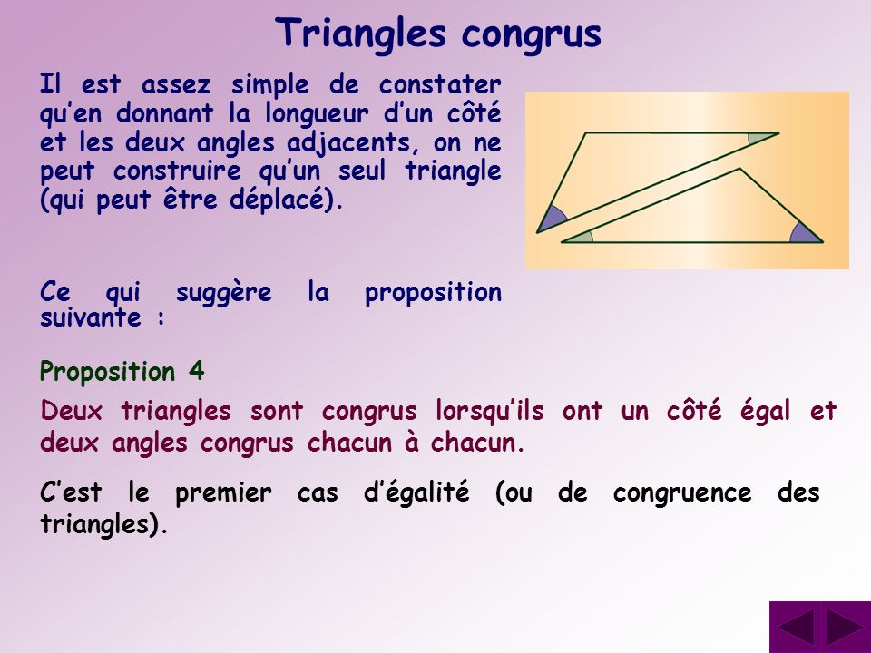 Triangles congrus