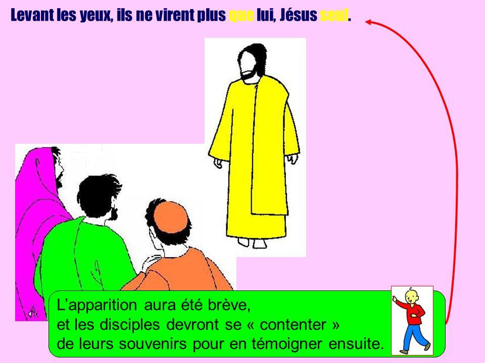 Levant les yeux, ils ne virent plus que lui, Jésus seul.