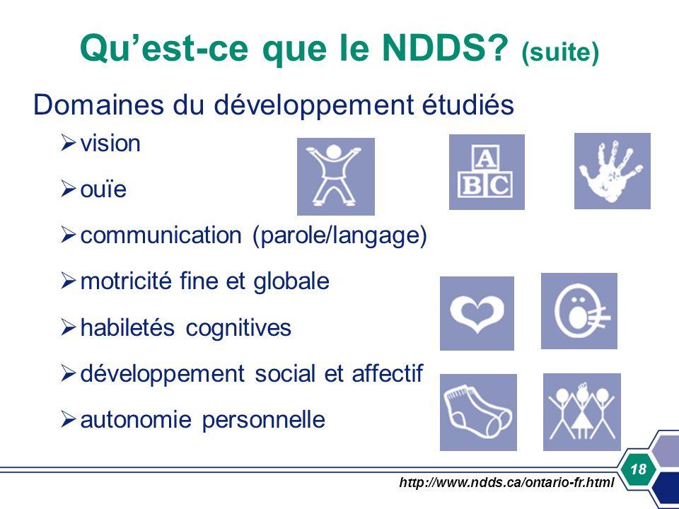 Qu'est-ce que le NDDS (suite)