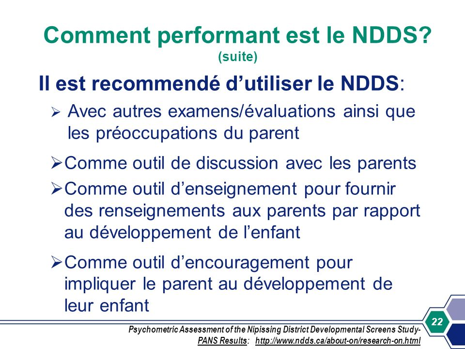 Comment performant est le NDDS (suite)