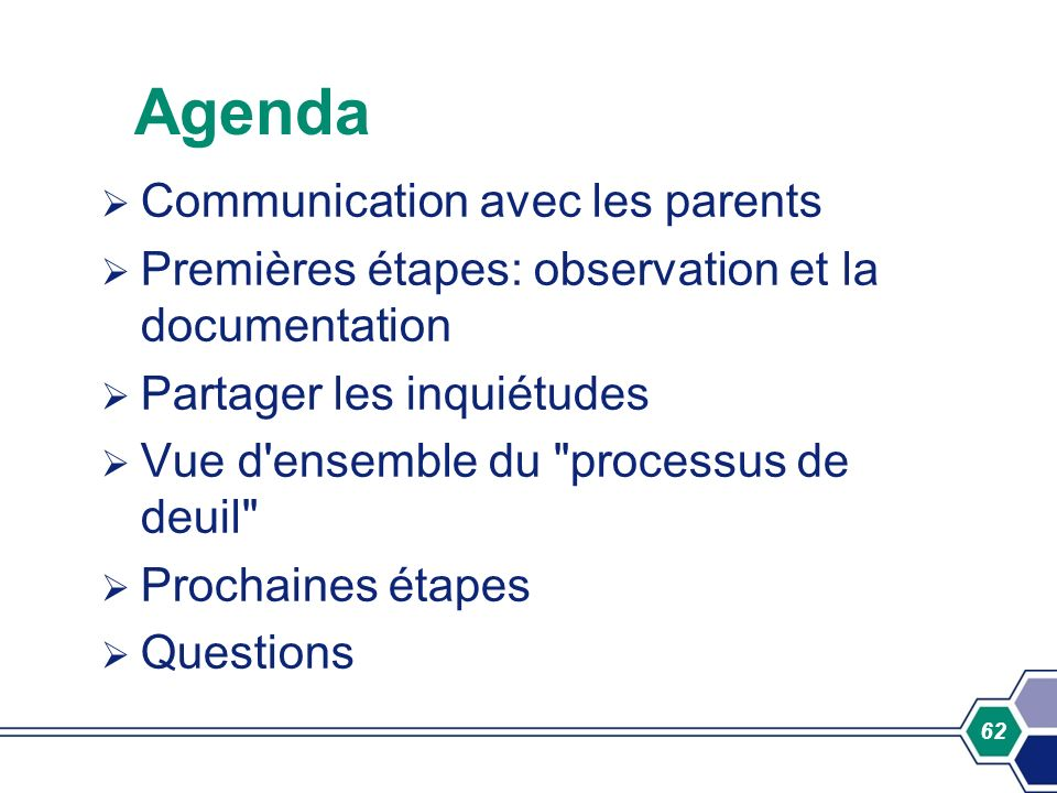 Agenda Communication avec les parents