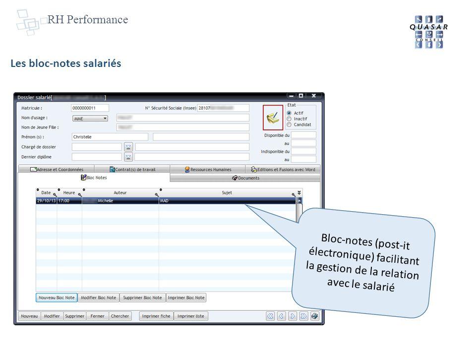 RH Performance Les bloc-notes salariés.