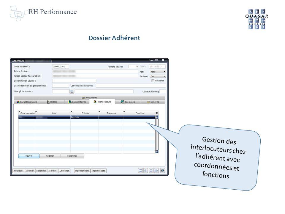 RH Performance Dossier Adhérent.
