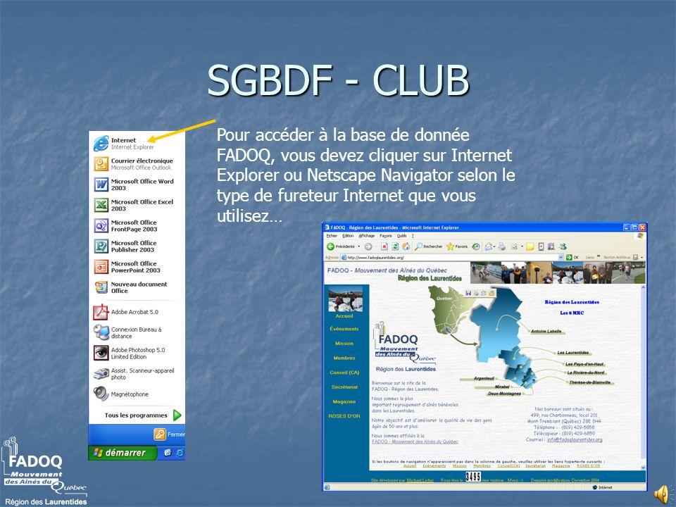 SGBDF - CLUB
