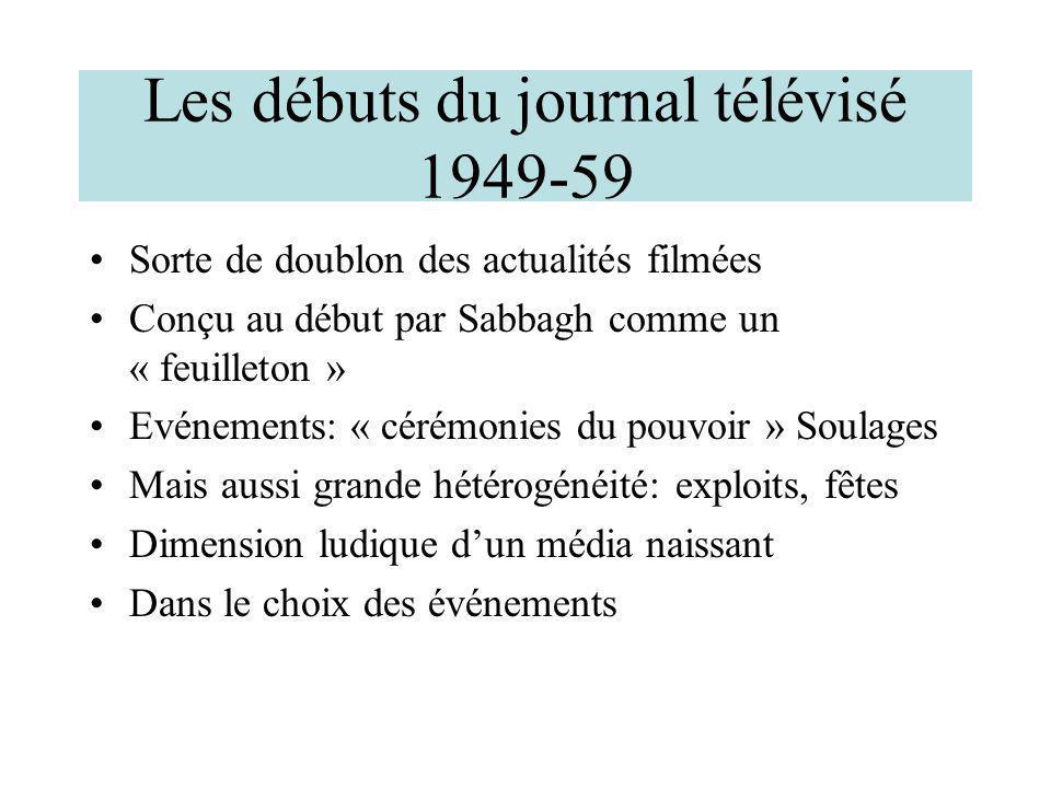 Les débuts du journal télévisé 1949-59