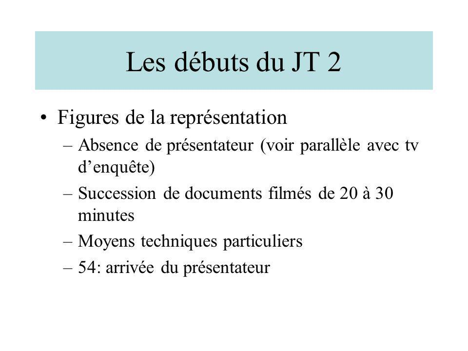 Les débuts du JT 2 Figures de la représentation