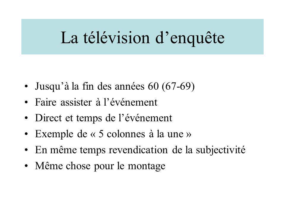 La télévision d'enquête
