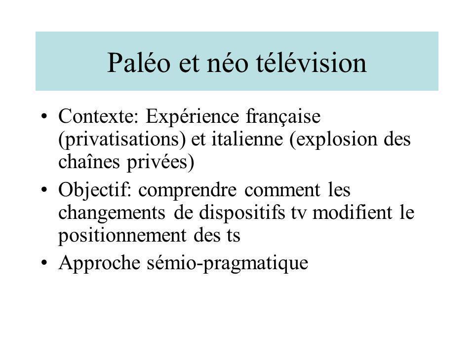 Paléo et néo télévision