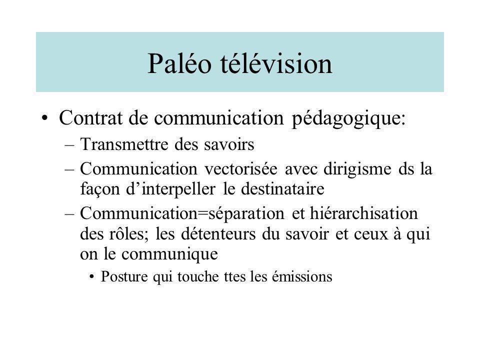 Paléo télévision Contrat de communication pédagogique: