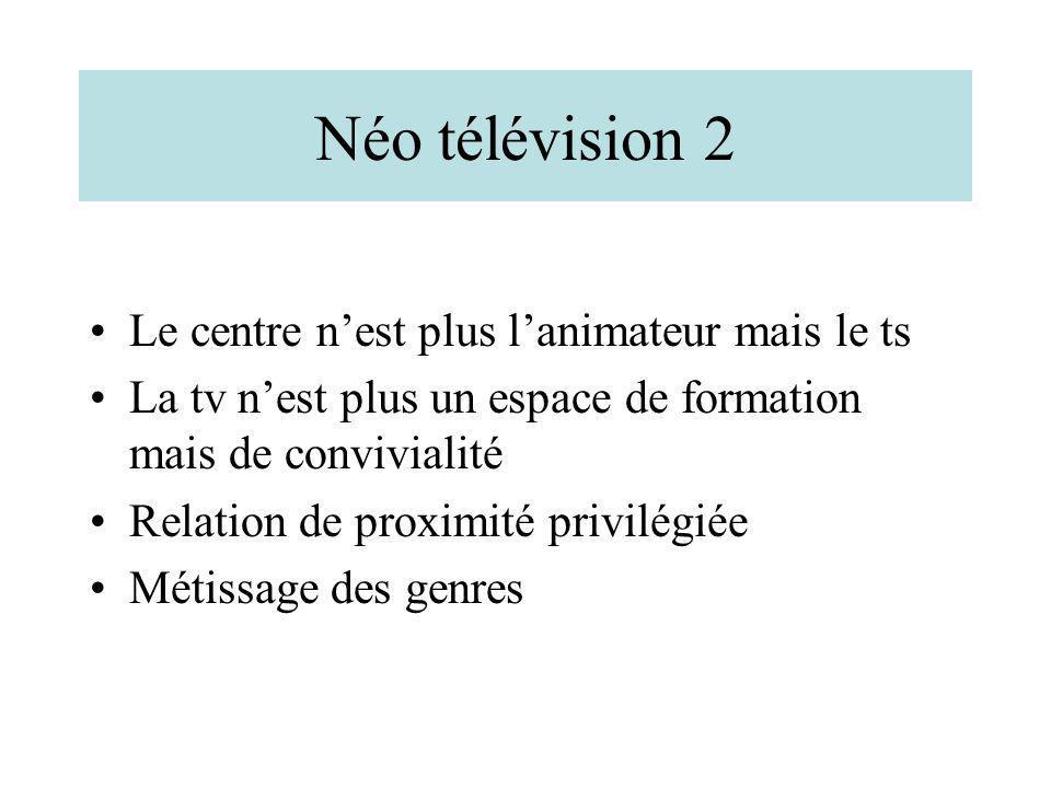 Néo télévision 2 Le centre n'est plus l'animateur mais le ts