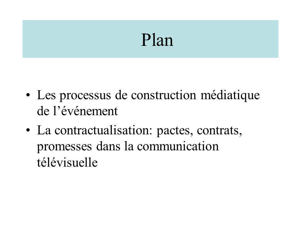 Plan Les processus de construction médiatique de l'événement