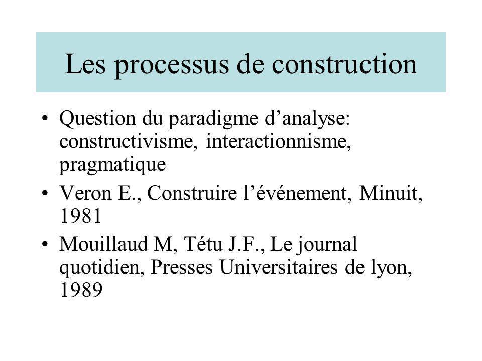 Les processus de construction