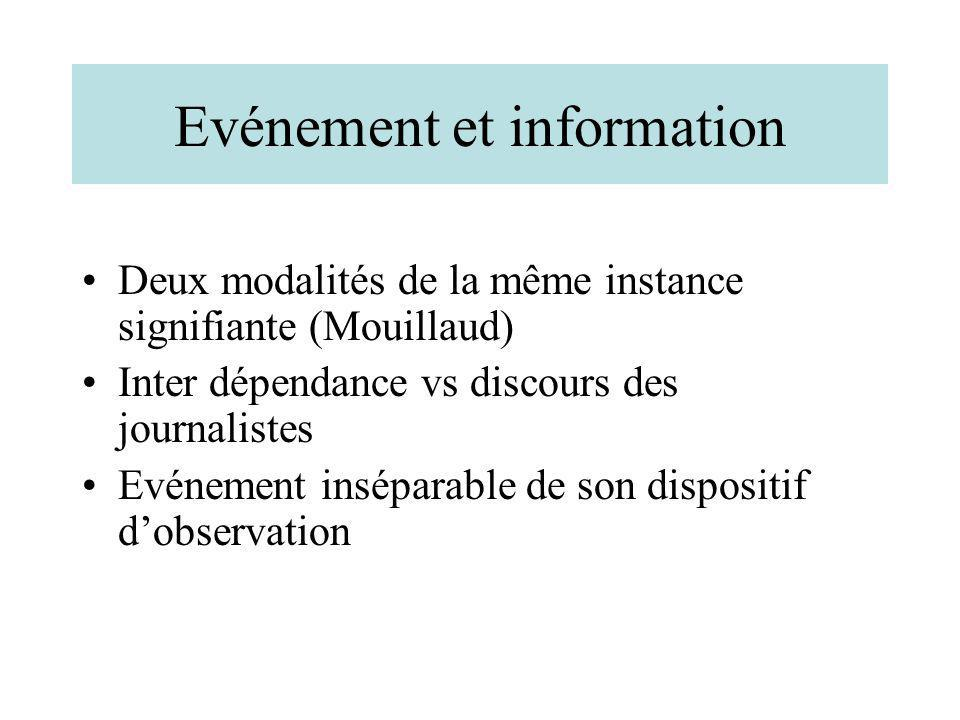 Evénement et information