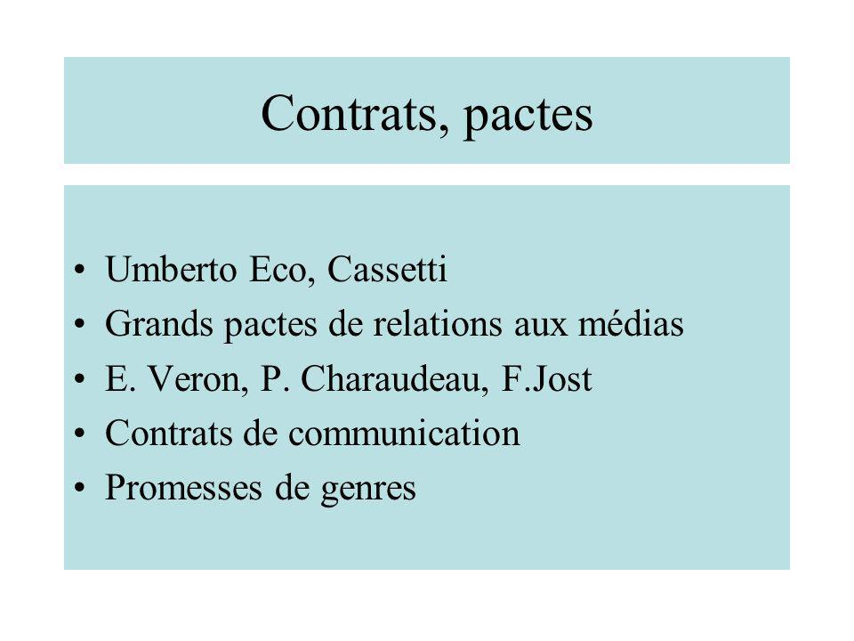 Contrats, pactes Umberto Eco, Cassetti