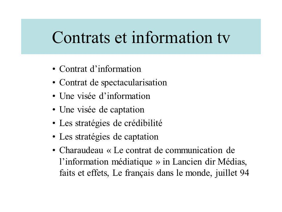 Contrats et information tv
