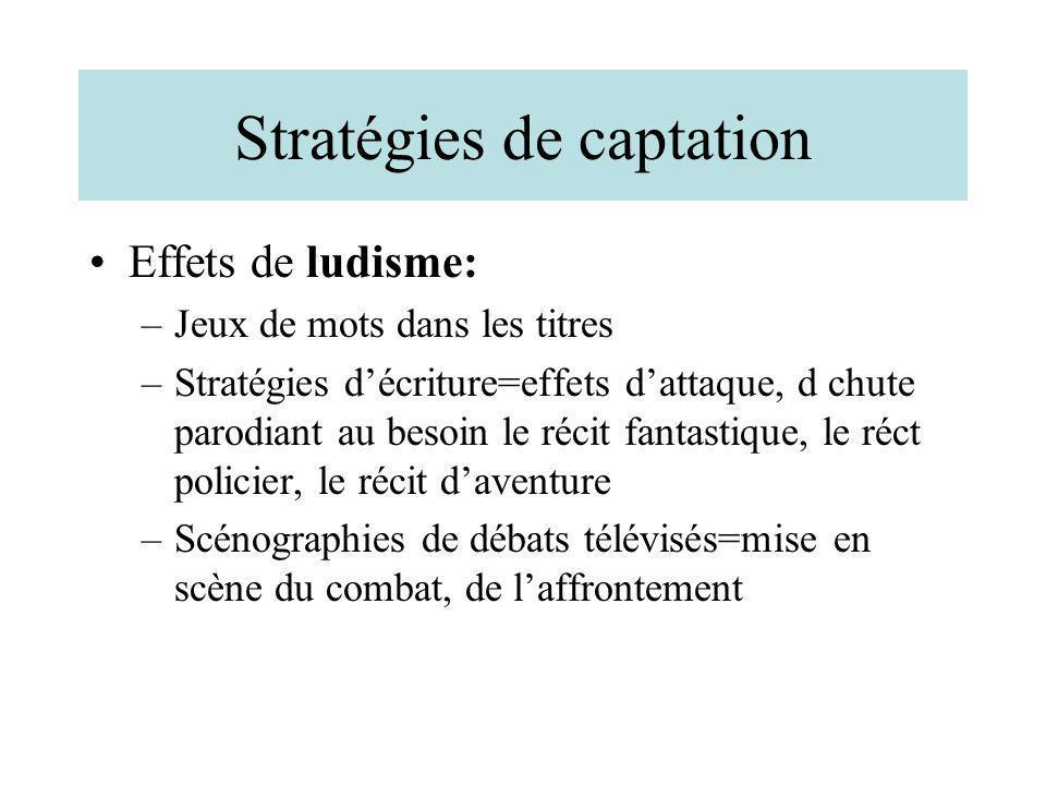 Stratégies de captation