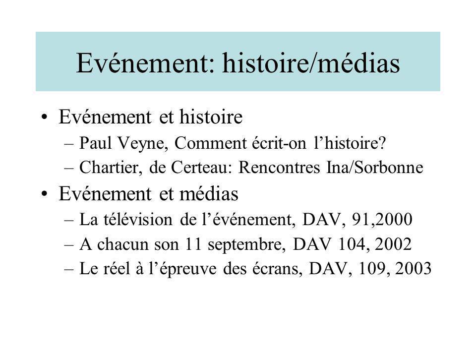 Evénement: histoire/médias