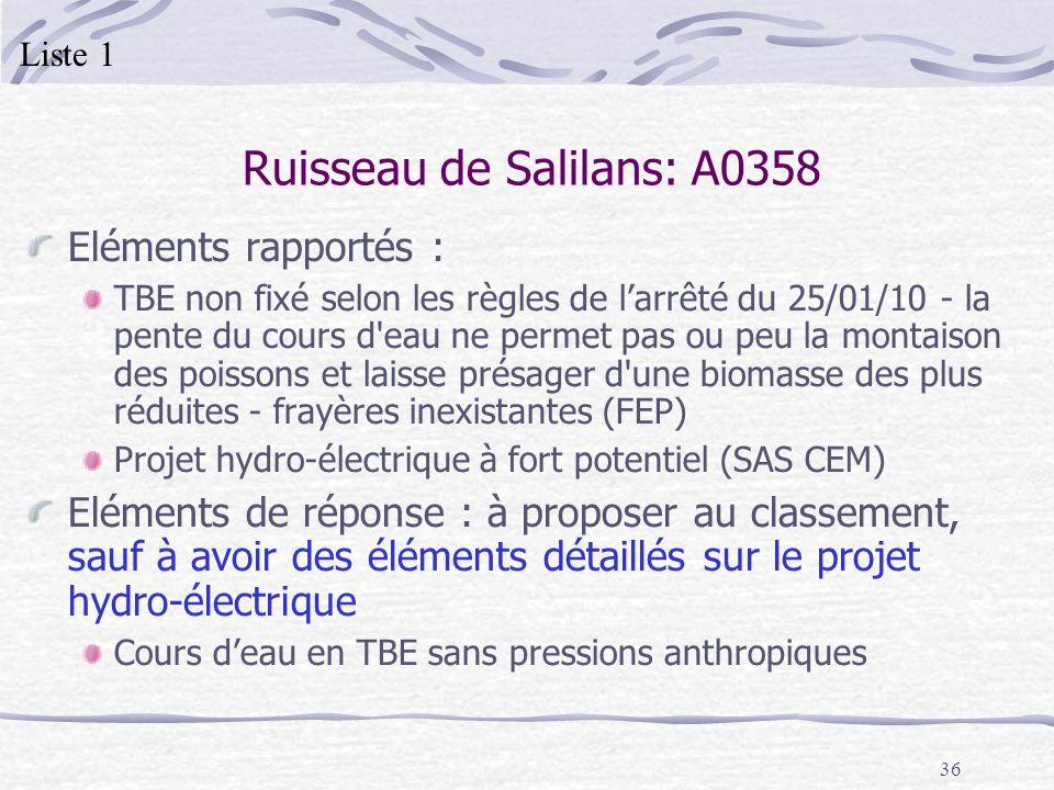 Ruisseau de Salilans: A0358