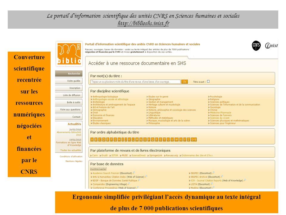 Ergonomie simplifiée privilégiant l'accès dynamique au texte intégral