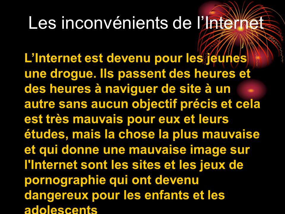 Les inconvénients de l'Internet