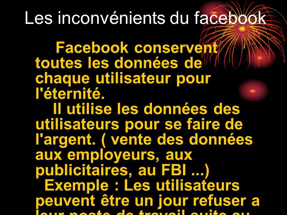 Les inconvénients du facebook