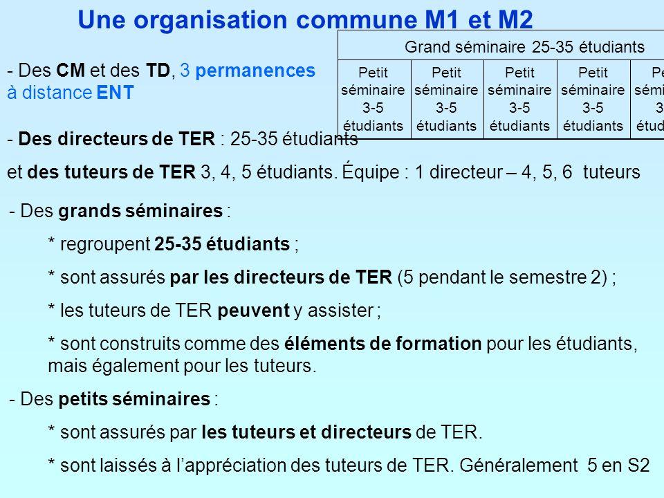 Une organisation commune M1 et M2