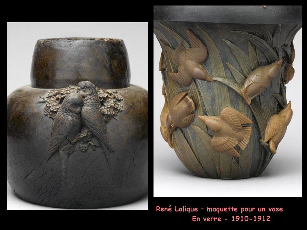 René Lalique – maquette pour un vase En verre - 1910-1912