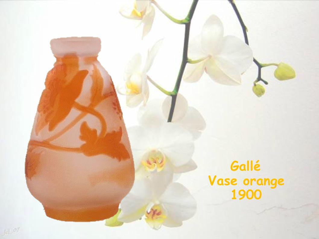 Gallé Vase orange 1900 19