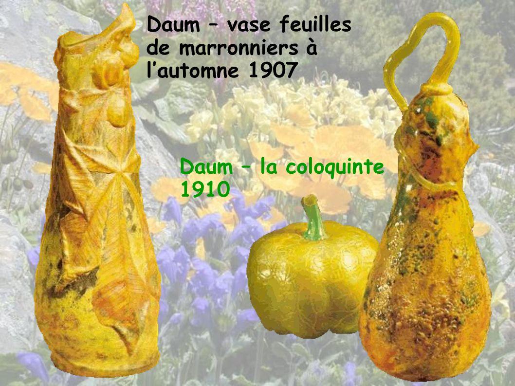 Daum – vase feuilles de marronniers à l'automne 1907