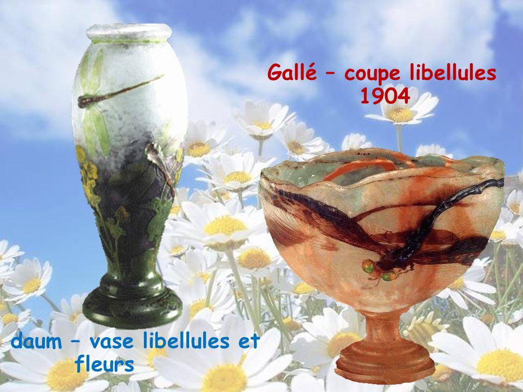 Gallé – coupe libellules 1904