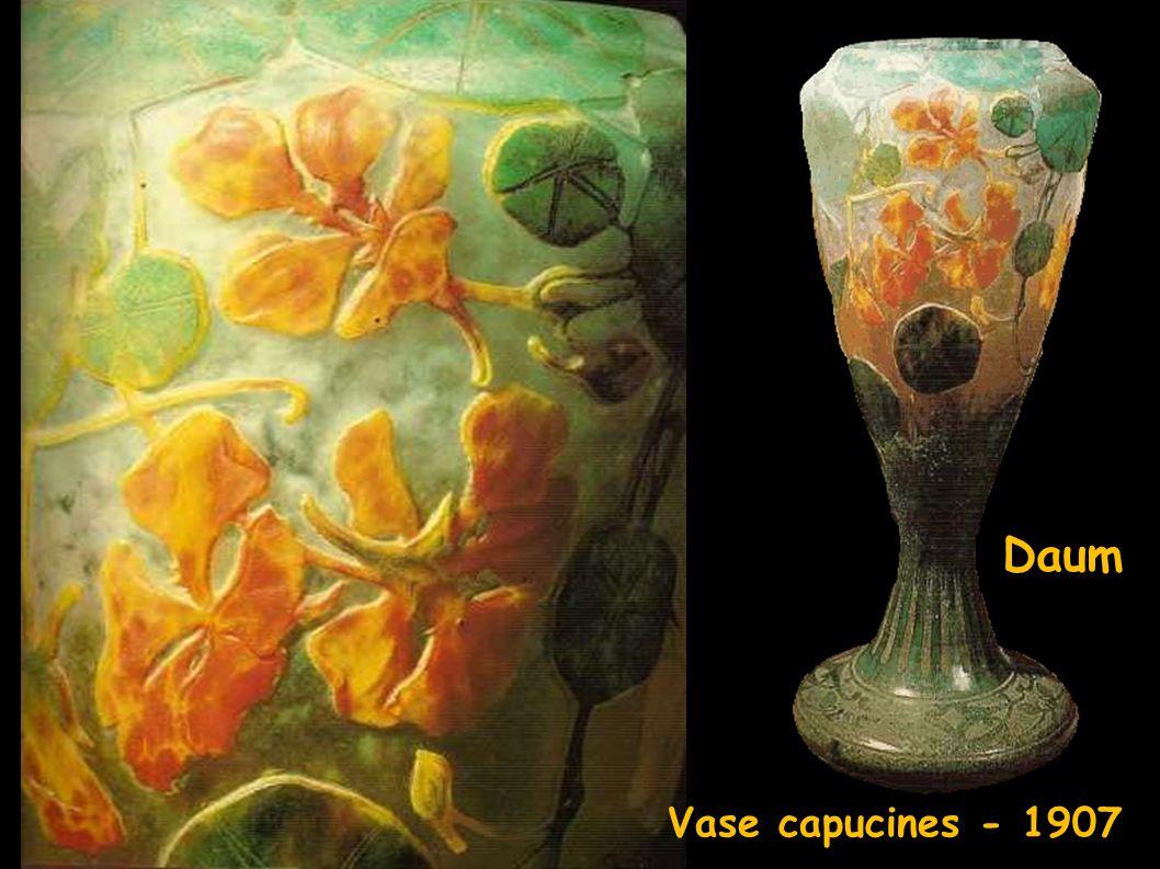 vase Daum Vase capucines - 1907