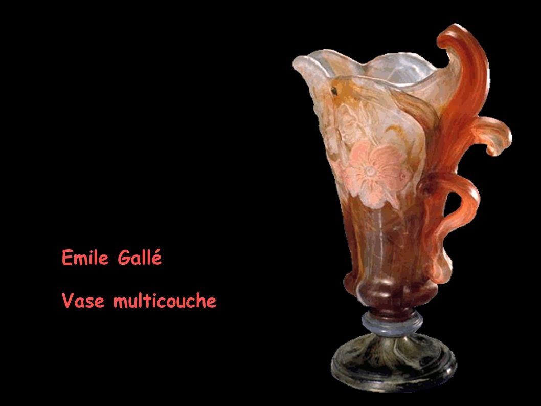 Emile Gallé Vase multicouche
