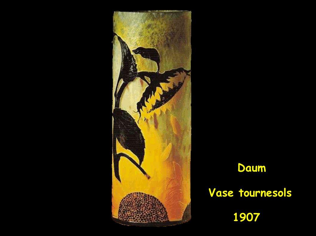 Daum Vase tournesols 1907