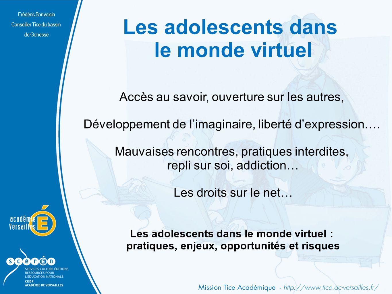 Les adolescents dans le monde virtuel