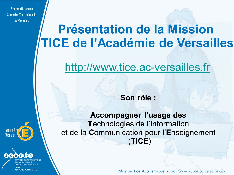 Présentation de la Mission TICE de l'Académie de Versailles