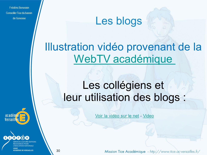 Illustration vidéo provenant de la WebTV académique Les collégiens et