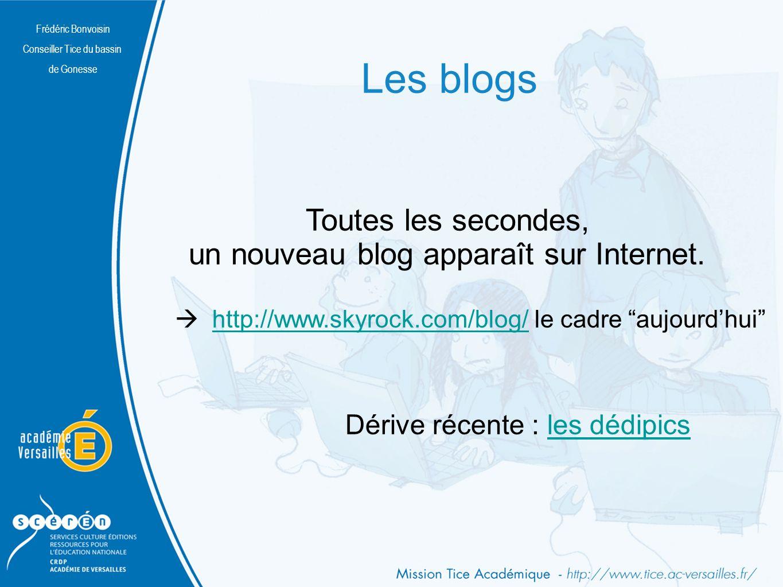 Les blogs Toutes les secondes, un nouveau blog apparaît sur Internet.
